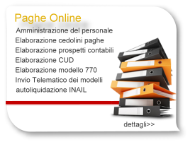 Paghe online: Cud,770,paghe, cedolini paga